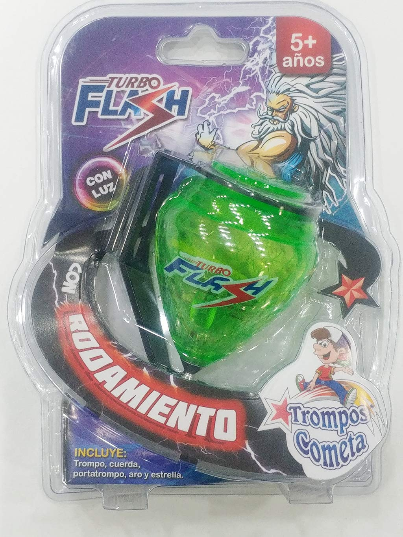 Trompo Peonza King Turbo Flash (con luz LED): Amazon.es: Juguetes y juegos