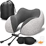 Vento Memory Foam Travel Pillow - Airplane Neck Pillow for Air Travel, Compact & Adjustable Memory Foam Neck Pillow, Air Plan