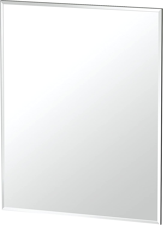 Gatco 1803 Flush Mount Frameless Rectangle Mirror, 24-inch