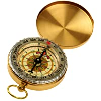 Homyl Vintage Portable Charm Brass Pocket Compass for Cycling Cycle Hiking Camping
