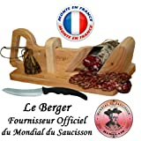 Guillotine à saucisson Traditionnel LE BERGER + Couteau à Pain Offert