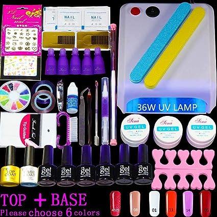 Set de manicura de uñas de gel kit polaco 6 color de las uñas de gel ...