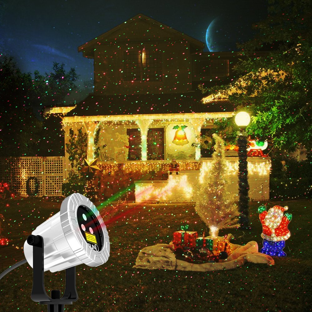 Amazon.com: Laser Christmas Lights SUNY 3 Lens Apertures Sources ...