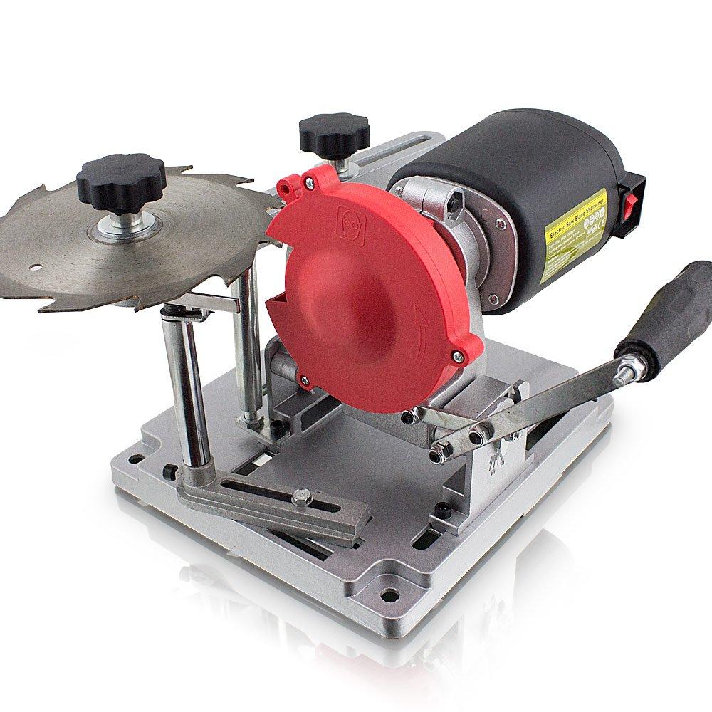 BITUXX® Sägeblatt Schärfgerät Schleifer Sägeblattschärfgerät für 90-400mm Sägeblätter MS-Point