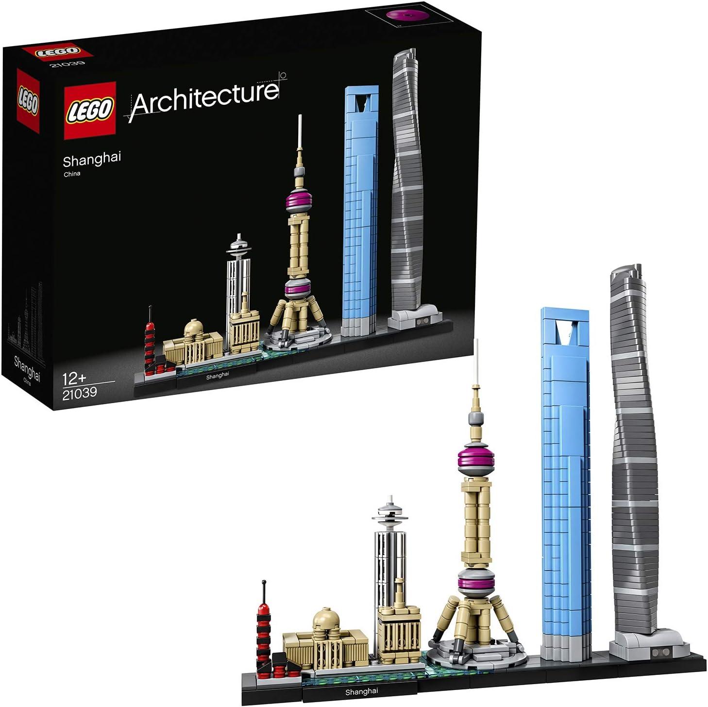 LEGO Architecture - Shanghái, Set de Construcción de Skyline con el World Financial Center y la Torre de la Perla Oriental, Regalo Coleccionable (21039): Amazon.es: Juguetes y juegos