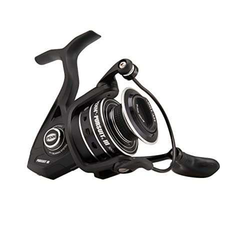 Penn Unisexs Pursuit III 4000 Spinning Reel, Black, One Size ...