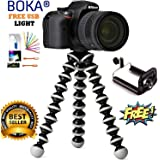 Mobias Retails, Flexible Octopus Foldable Tripod for Camera, DSLR and Smartphones with Universal Mobile Attachment(White & Black)