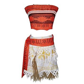 Vestido disfraz Cosplay tipo Vaiana Moana Mujer Disfraz Carnaval ...