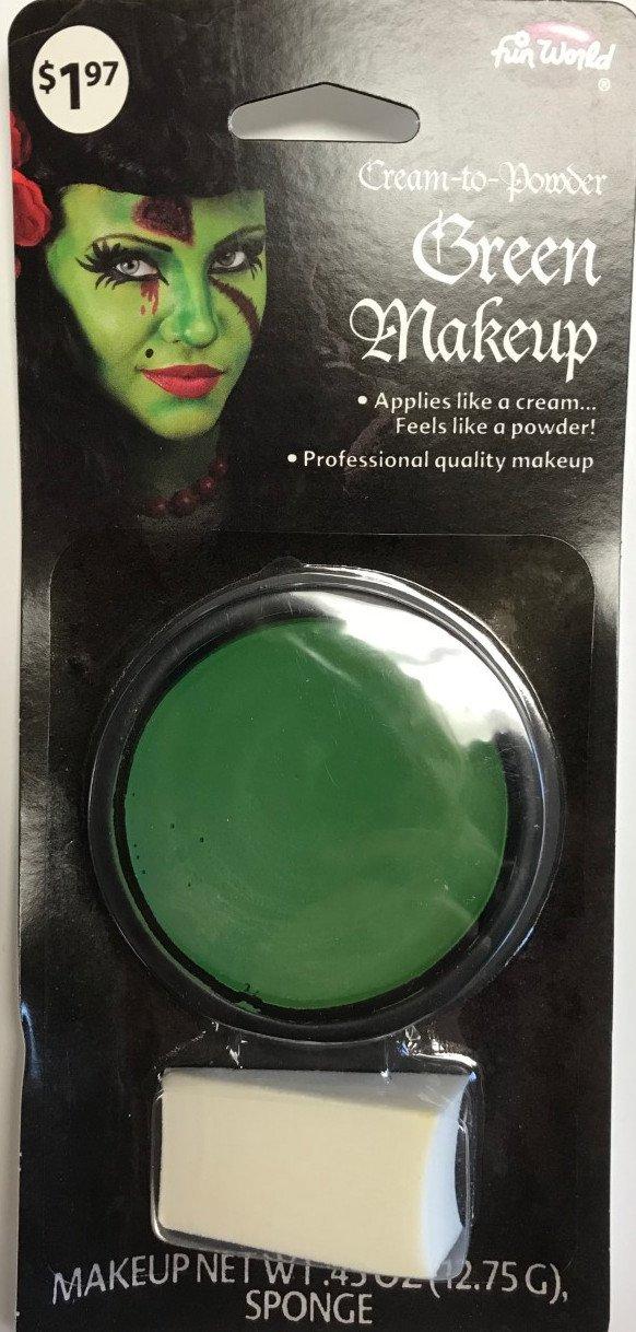 Cream to Powder Green Makeup with Sponge .45 oz.