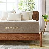 Inofia Queen Mattress Latex Foam, 11 Inch Bed Mattress with Linen Cover, ECOTURE Mattress in a Box, Ventilated Design | Sleep