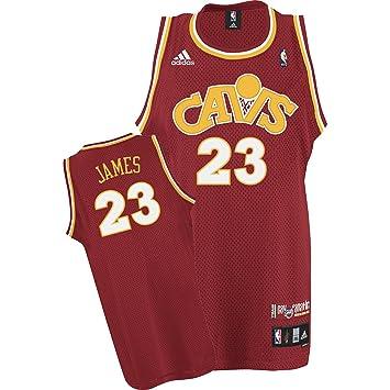 adidas Cleveland Cavaliers # 23 Lebron James de Vino CAV fanático ...