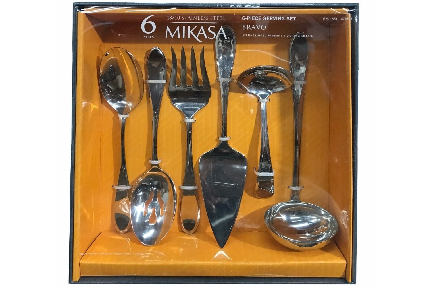 Mikasa Bravo 6 Piece Serving Set in Stainless Steel by Mikasa