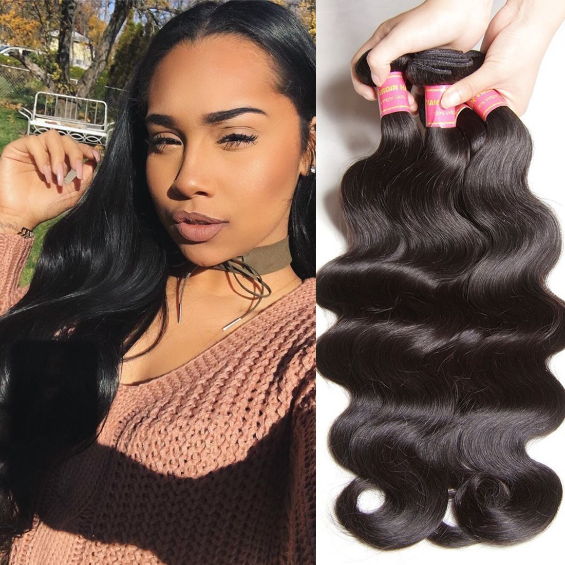 ALI JULIA Hair 8A Grade Malaysian Virgin Body Wave Hair Weft 100% Unprocessed Human Hair Extensions Natural Color Mixed Length (4pc12 14 16 18)