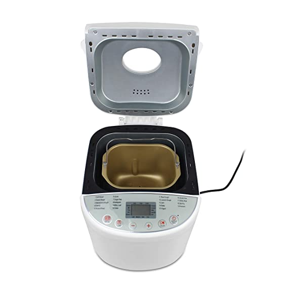 Sotech Máquina de Pan Sin Gluten, Panificadora Automática, 650W Máquina Programable para Hacer Pan con 19 Programas con Certificación CE, Rohs, LFGB, ...