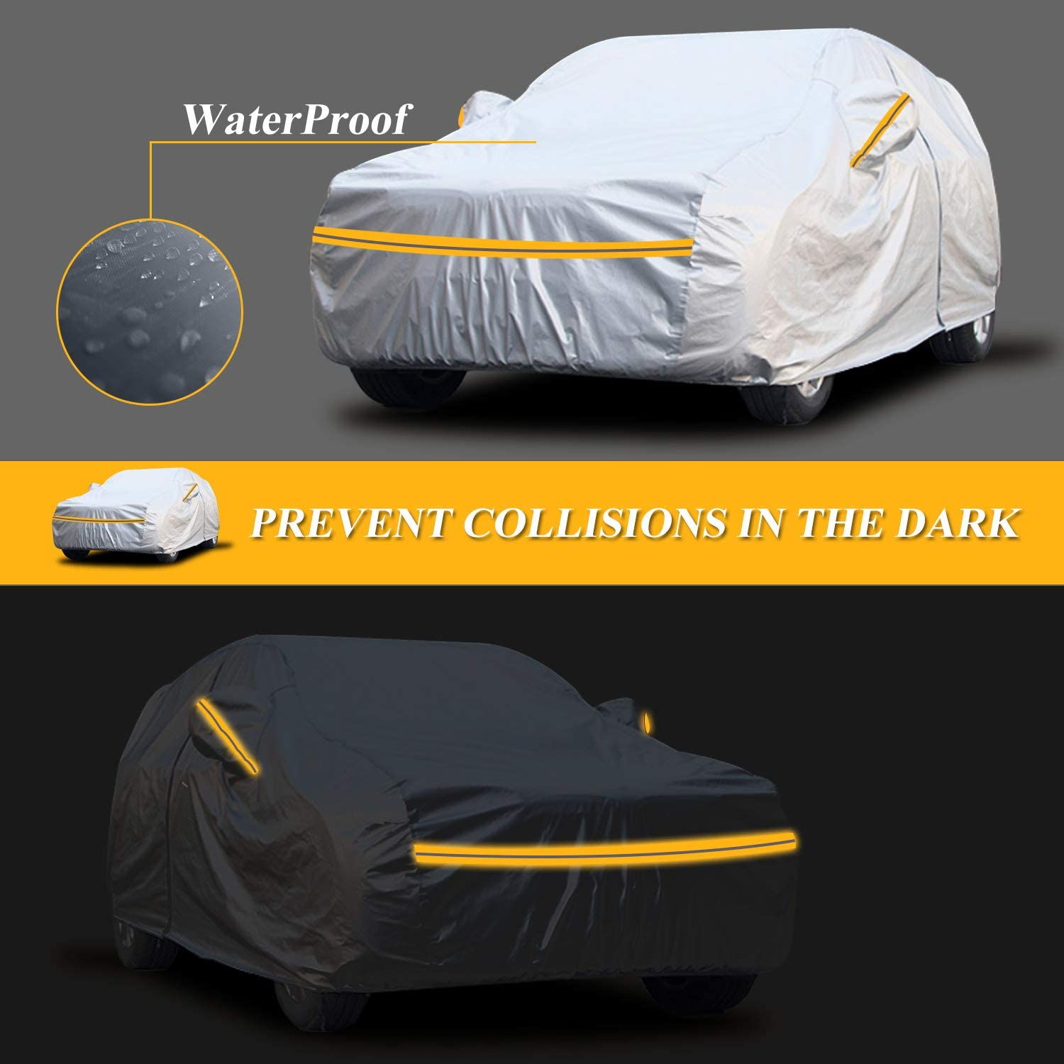 Special Car Cover for Audi A1 2010-2018 All Weather Full Coverage Breathable Windproof Waterproof Dustproof Scratch Resistant UV Protection Outdoor/&Indoor Cover Yellow