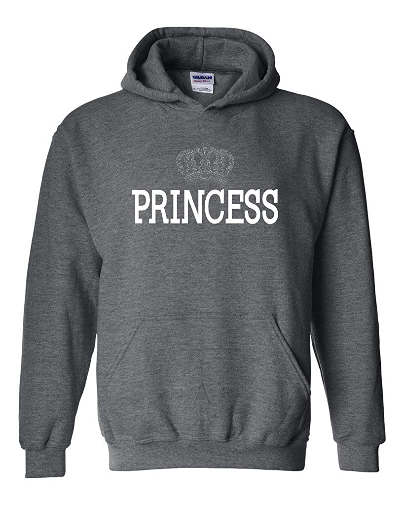 3aff92167db Amazon.com  Artix Princess Crown Unisex Hoodie Sweatshirts  Clothing