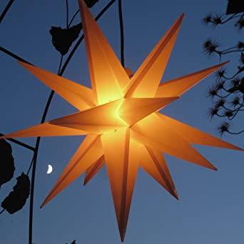 Mit Led Leuchtmittel Auswechselbar Aussenstern Adventsstern Gelb