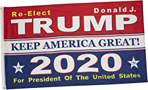 Donald Trump Flag for President - 2020 Keep America Great Flags - 3x5 Feet Durable Polyester with Grommets Donald J Re-elect