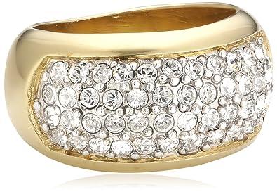 57d4e129a Jean Pierre Women's Ring Swarovski Crystal White R1911: Amazon.co.uk ...