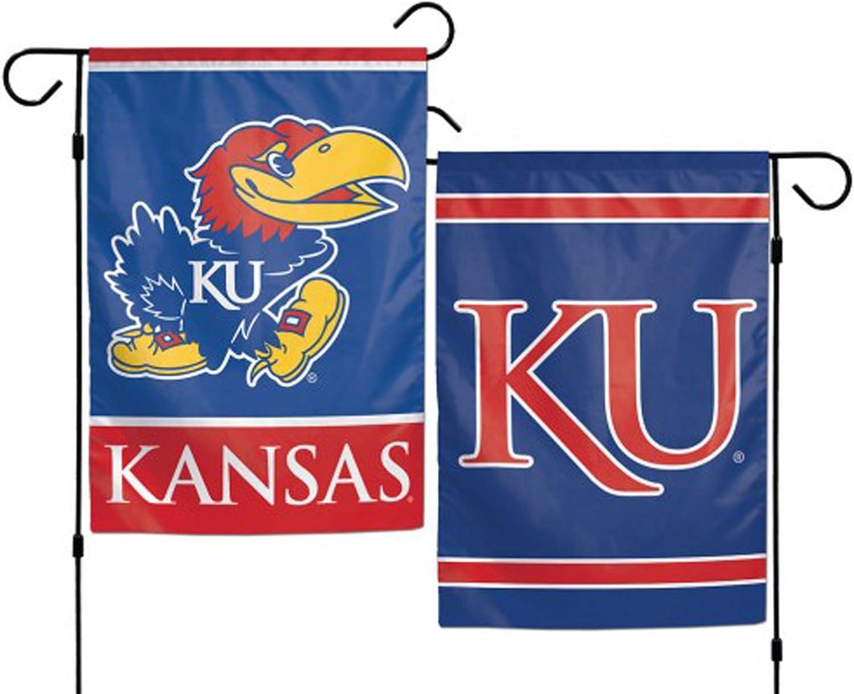 WinCraft NCAA University of Kansas 12x18 Inch 2-Sided Outdoor Garden Flag Banner