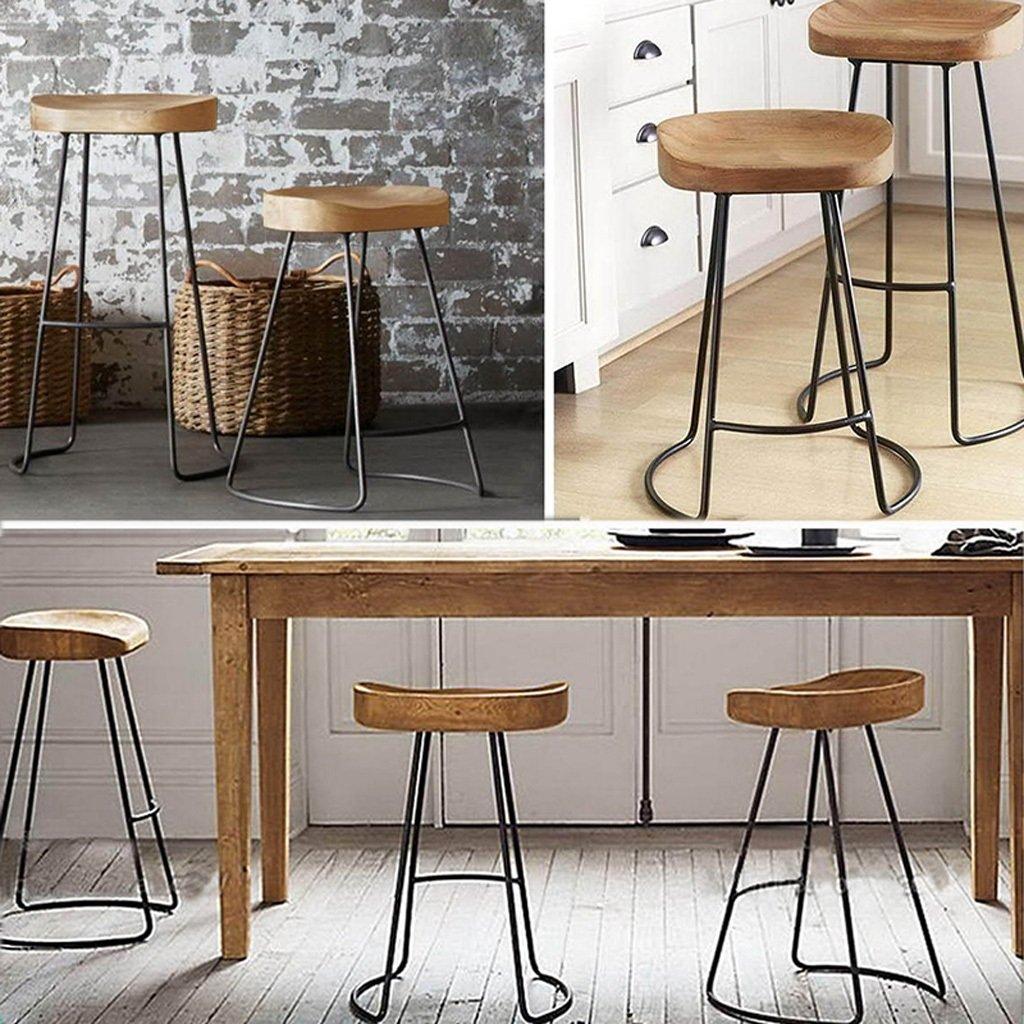 Furniture Hard-Working Nordic Bar Stool Modern Minimalist Bar Chair Solid Wood Home Creative Bar Chair Fashion High Stool Neither Too Hard Nor Too Soft Bar Chairs
