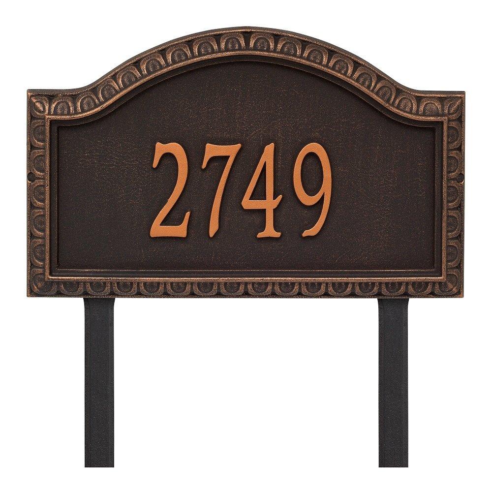 "Custom Grande Penhurst LAWN Address Plaque 20""W x 12""H (1 Line)"
