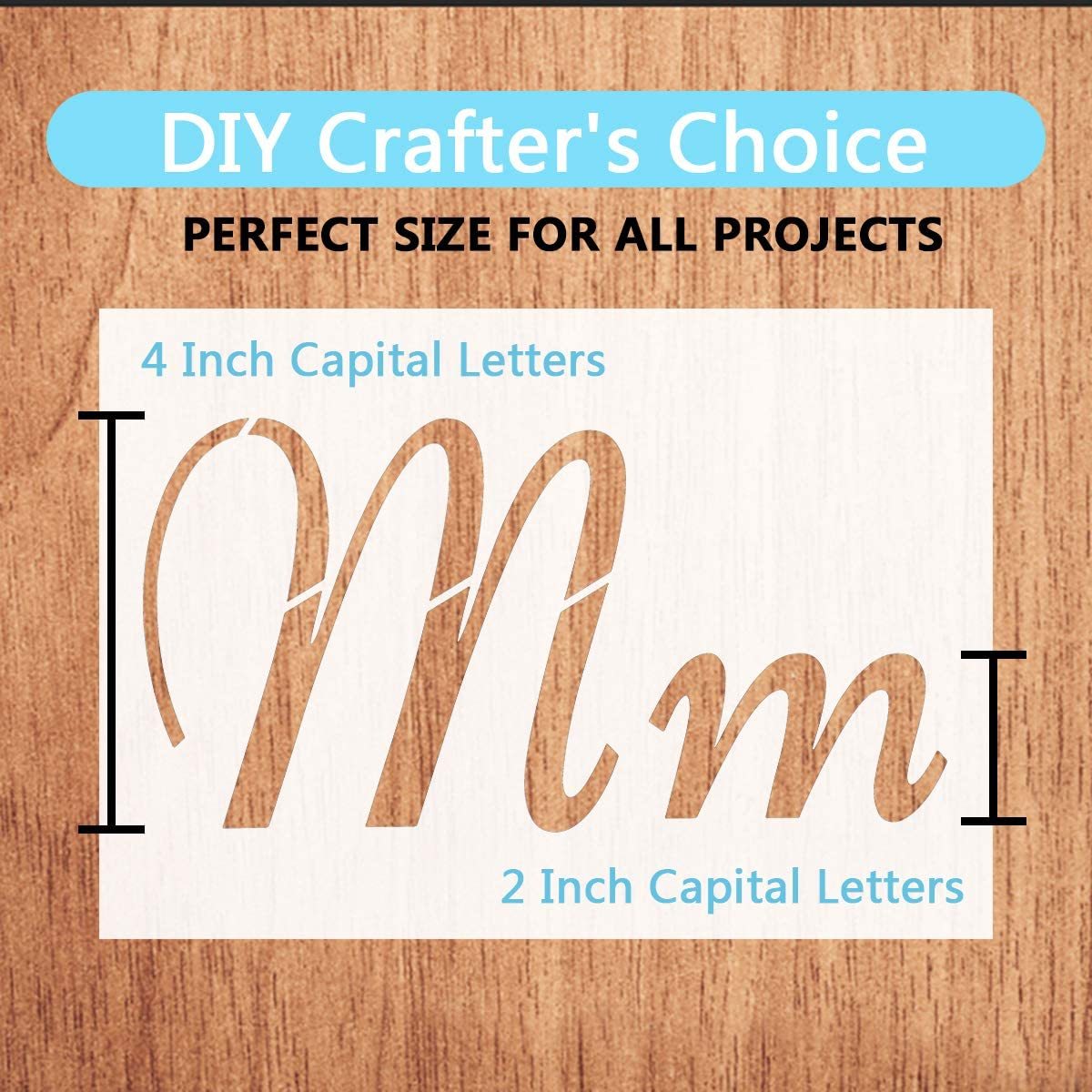 Reusable Plastic Number Templates Stencils for Art Drawing,Craft DIY Writing on Chalkboard,Wood,Signage,Bistro,Fabric Garden Flag Stone-40 Pieces,80 Pattern Larger Alphabet Letter Stencils