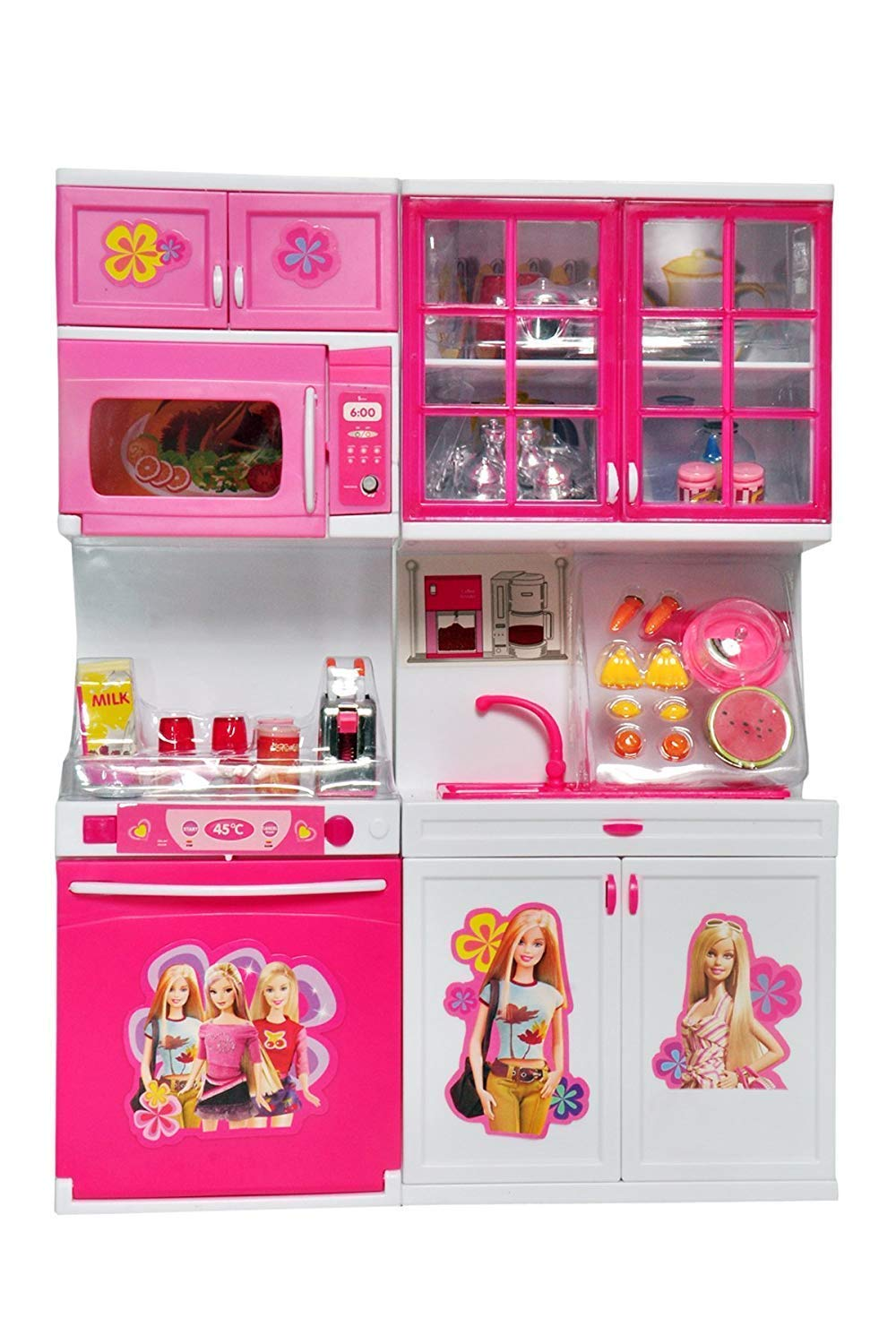 Buy Big Folk Barbie Kids Kitchen Play Set For Girls Toys With Lights And Music 2 Fold Kids Toys For Girls Online At Low Prices In India Amazon In