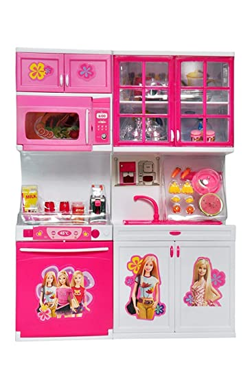 Buy Big Folk Barbie Kids Kitchen Play Set For Girls Toys With