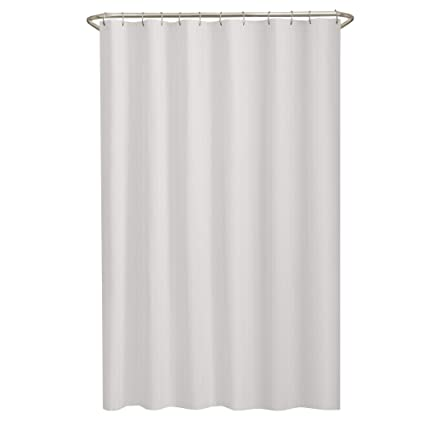Image Unavailable Not Available For Color MAYTEX Mills Norwich Textured Fabric Shower Curtain Or Liner White