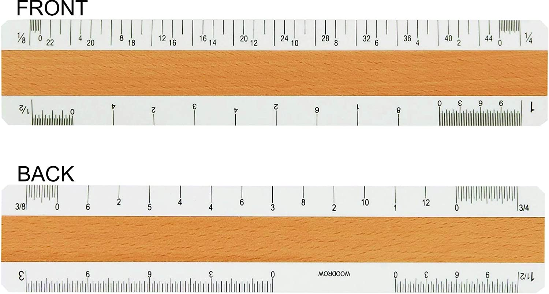 12 Architectural 4 Bevel Wood Ruler