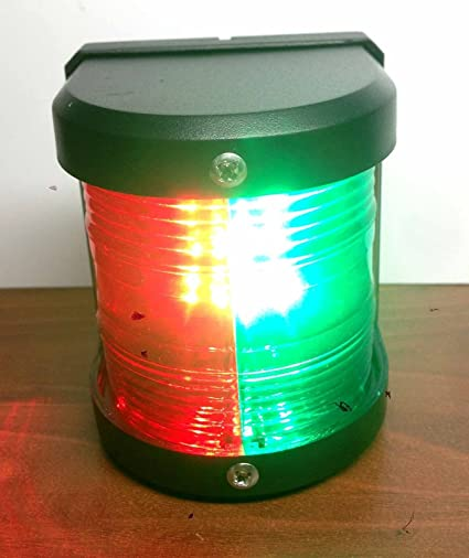 BOAT MARINE COMBINATION SMALL BOW LIGHT NAVIGATION RED GREEN UP TO 39/' USCG