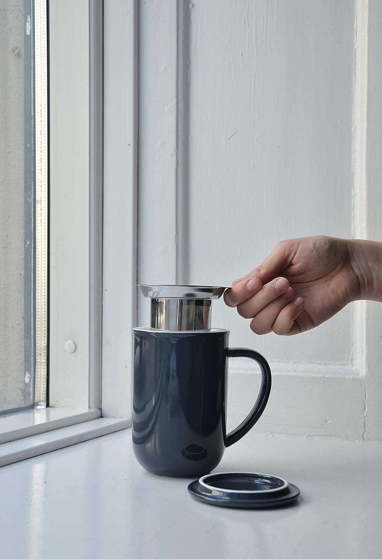 th/é /à Feuilles poign/ée Isolante 0.5 L th/é en Vrac Vert Viva Scandinavia Tasse /à th/é en Porcelaine avec infuseur Amovible en Acier Inoxydable