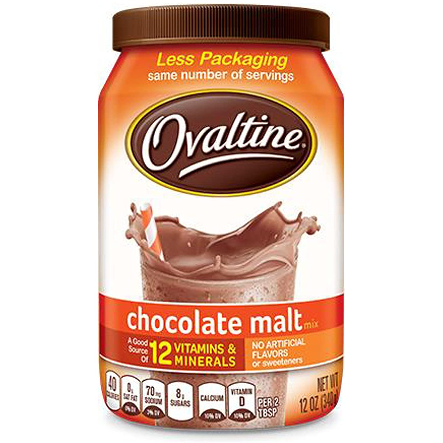 Amazon.com : Nestle Foods Ovaltine Chocolate Malt, 12 oz : Grocery ...