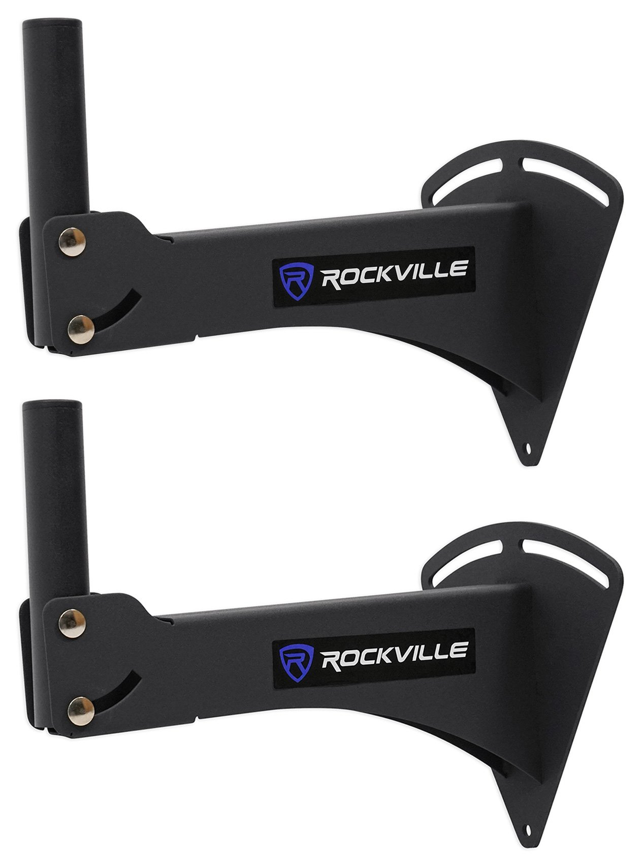 Rockville RPW20 Adjustable Wall Mount Bracket for PA Speaker Installations, Pair