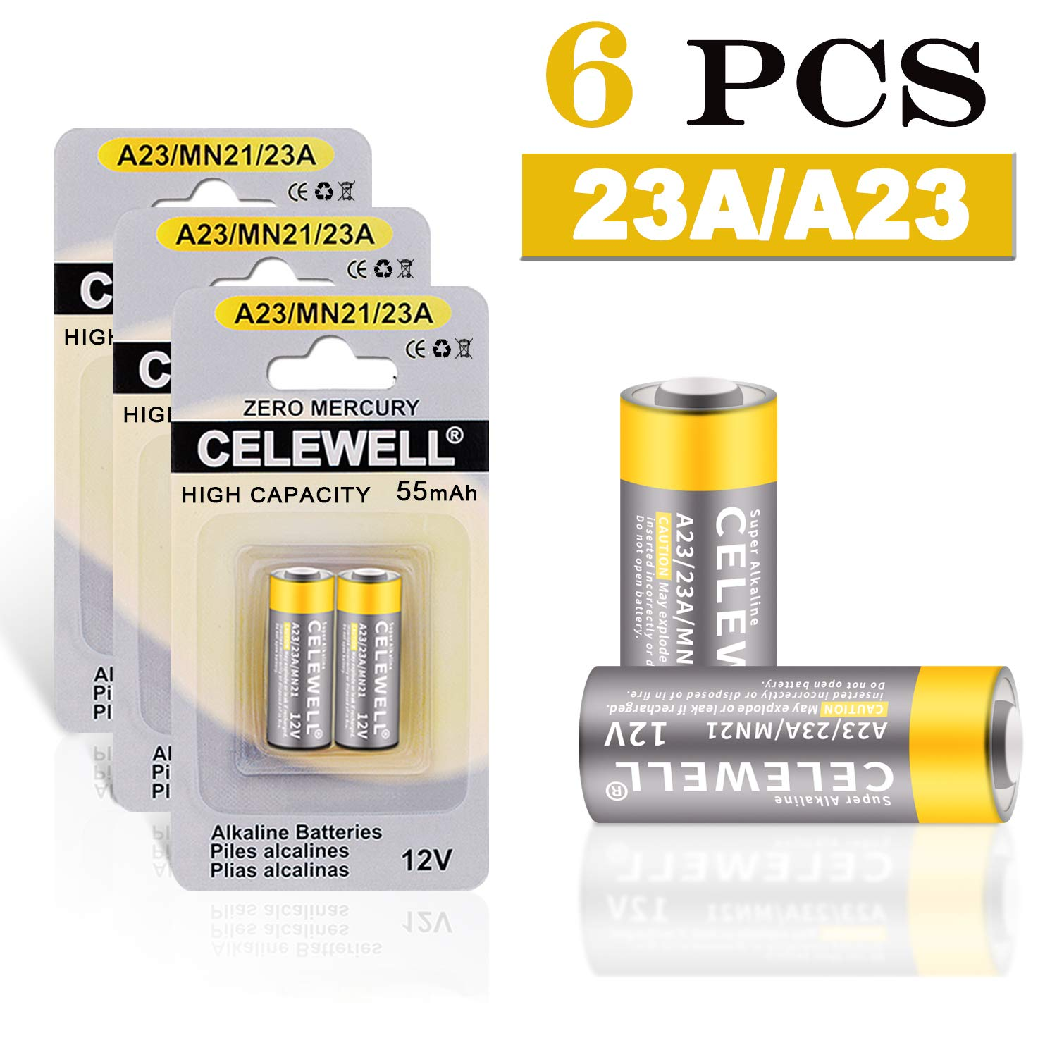 Loopacell A23 23A 21//23 MN21 12v Battery 15 Pk