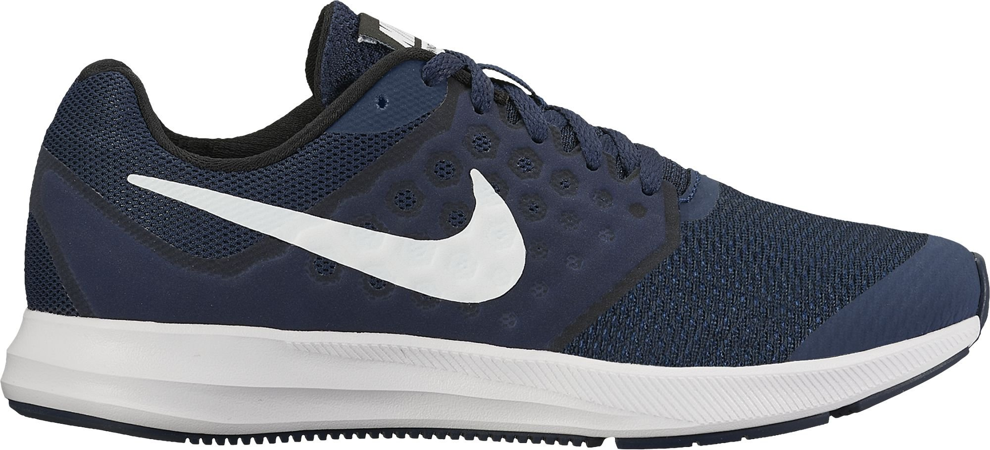 Boy's Nike Downshifter 7 (GS) Running Shoe (5.5, Navy) by NIKE