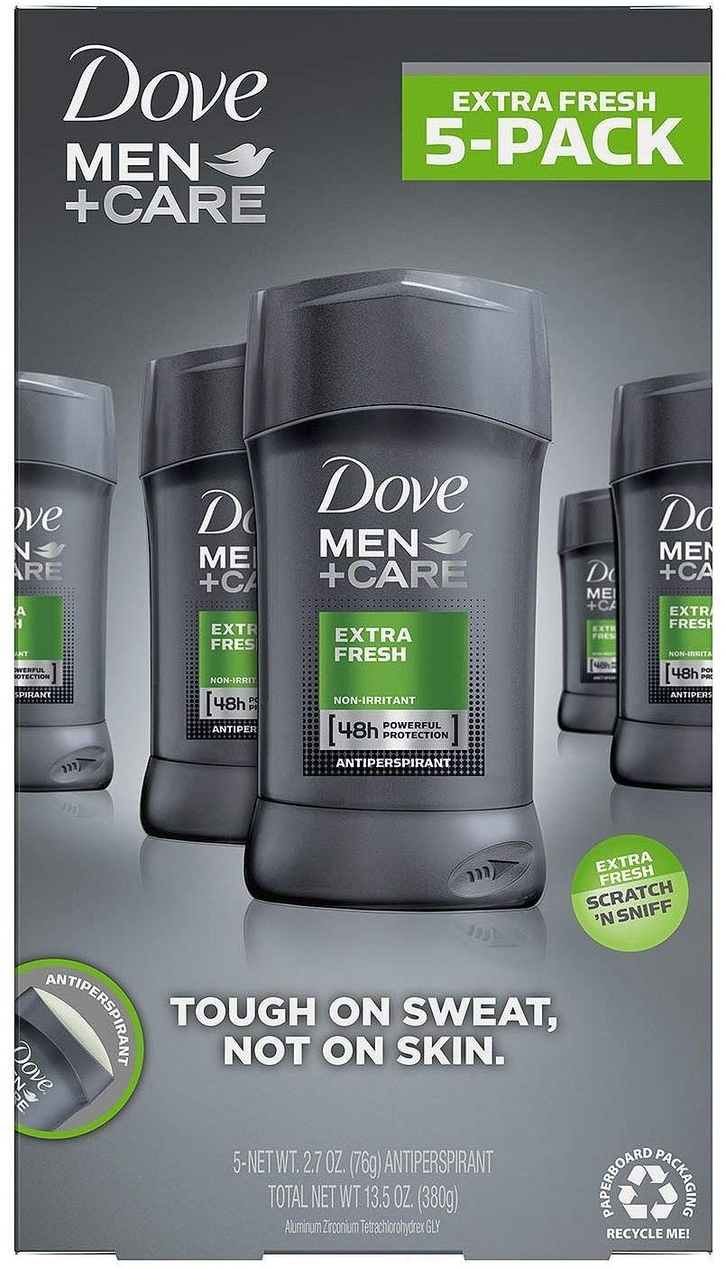 Dove Men + Care Extra Fresh Non-irritant Antiperspiration 5 Pack