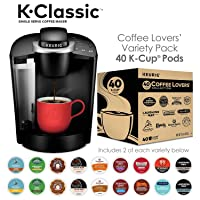 Deals on Keurig K55 K-Classic Coffee Maker + 40ct Variety Pack of K-Cups