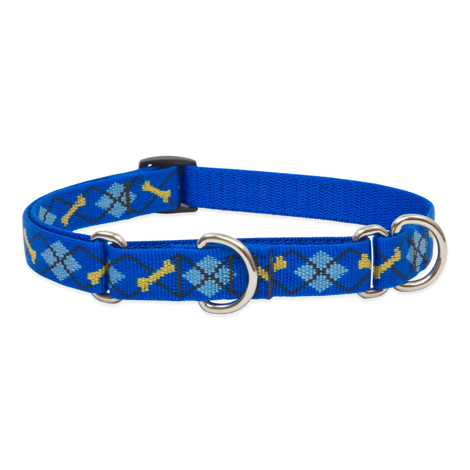 LupinePet Originals 3/4'' Dapper Dog 10-14'' Martingale Collar for Small Dogs