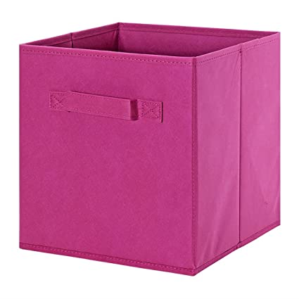 Fabric Storage Cube - ONu0027H Collapsible Fabric Bins Basket Organizer Drawers Containers - Fuchsia  sc 1 st  Amazon.com & Amazon.com: Fabric Storage Cube - ONu0027H Collapsible Fabric Bins ...
