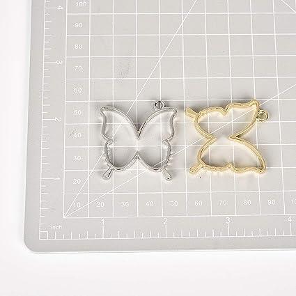 Butterfly Open Bezel Jewelry Set Real Flowers Botanical Amulet Garden Reliquary