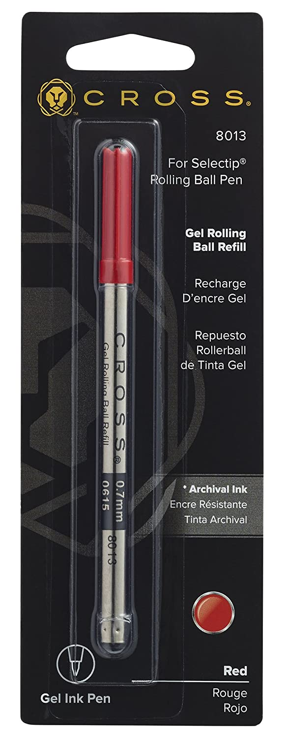 1 Per Card Cross Selectip Gel Rollingball Pen Refill 8013 Red