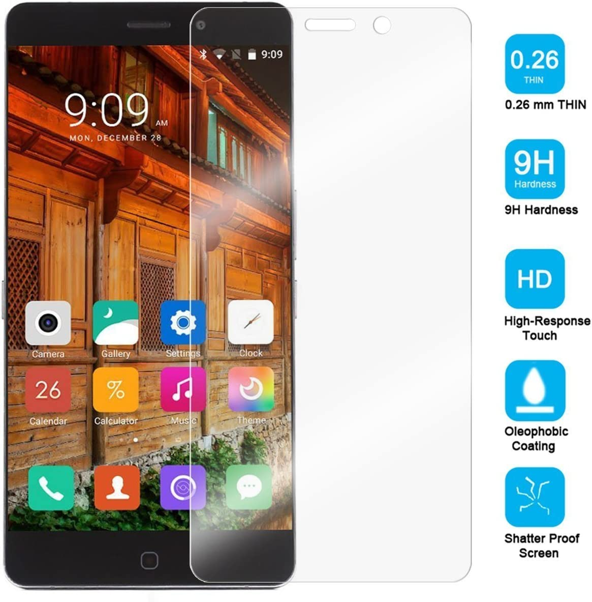 Elephone S7 Cristal Templado Protector, iBetter Ultra Con [Crystal ...