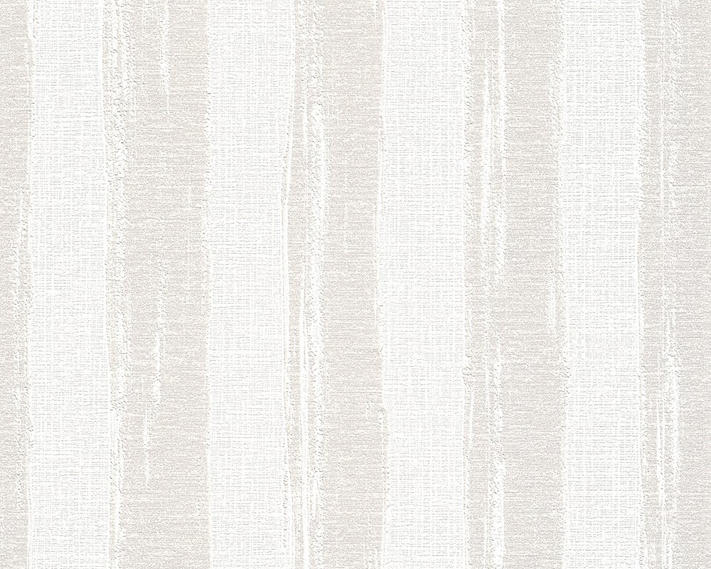 Cr/éation Vliestapete Shabby Style Tapete Streifentapete 10,05 m x 0,53 m beige creme wei/ß Made in Germany 941563 94156-3 A.S