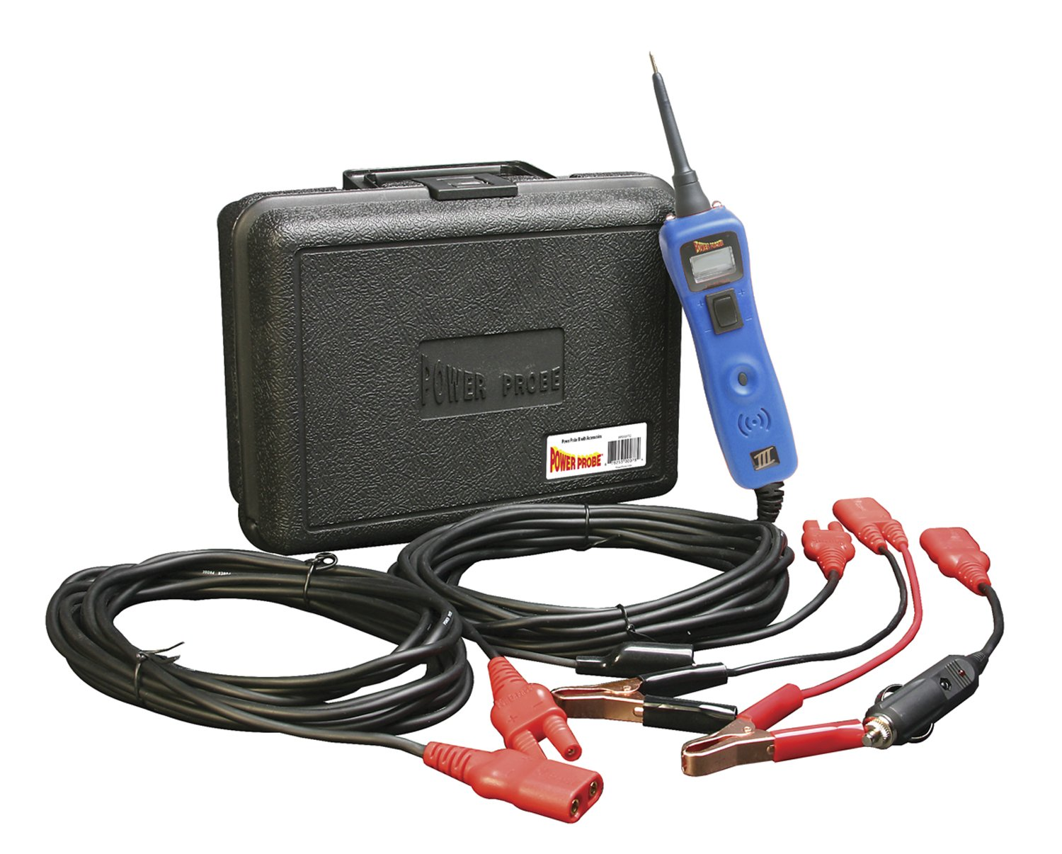 POWER PROBE III W/ Case & Acc - Blue (PP319FTCBLU) [Car Automotive Diagnostic Test Tool Power Up Electrical Components Digital Volt Meter ACDC Current Resistance Circuit Tester LCD Screen Flashlight Short Circuit Indicator Audible Tone]