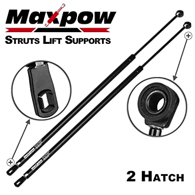 Maxpow 4900 SG130001 Compatible With Chevrolet Camaro With Spoiler or Wiper 1982 1983 1984 1985 1986 1987 1988 1989 1990 1991 1992 Hatch Trunk Struts Lift Supports: Automotive