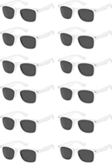 972d9749540 TheGag White Wayfarer Sunglasses Party Pack-12 Pure White Premium Quality  Plastic-Wholesale Bulk