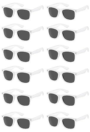 Amazon.com: TheGag - Gafas de sol blancas Wayfarer para ...
