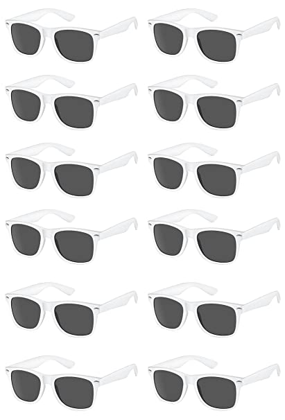 47f6a7c010 Image Unavailable. Image not available for. Color  TheGag White Wayfarer Sunglasses  Party Pack-12 ...